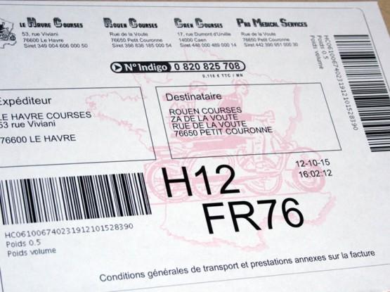 Le Havre Courses bordereaux affranchissement